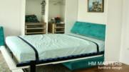 Падащо легло от mdf гланц с диван, от www.hm-masters.com