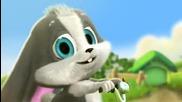 Сладко анимирано зайче пее