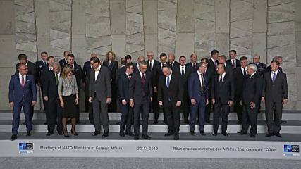 Belgium: NATO FMs pose for group photo at ministerial meeting