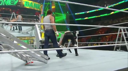 money in the bank 2014 contract ladder match part one