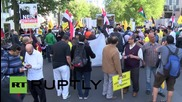 Germany: Anti-Sisi protesters rail outside Egyptian embassy after Sisi-Merkel meeting
