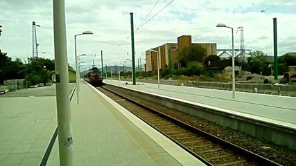 Бърз влак на гара Пазарджик