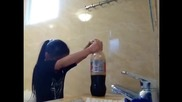 My Little Sister Vs. Coca Cola & Mentos - Must See