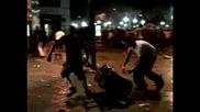 Насилие помрачи испанската футболна победа