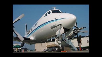 Самолет използван за разпръскване на chemtrails