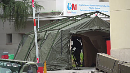 Spain: Army sets up field hospital to relieve Madrid COVID-19 emergency services