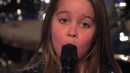Тъпото жури развали всичко! 6 годишно момиченце пее авторски death metal