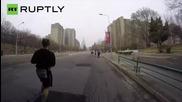 Rare GoPro Footage of North Korea's Pyongyang Marathon