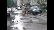 мястото на пешеходеца в ситуацията??