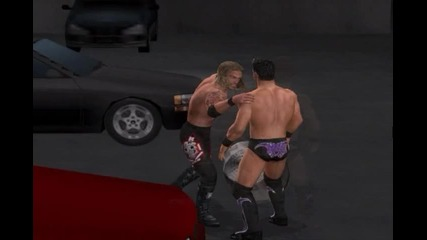 Raw vs Smackdown 2011 - Edge vs Chris Jericho |backstage|