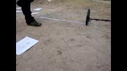 Blisstool Ltc64x v2 - Полеви тест 3 - Дълбочина на засичане на големи метални обекти