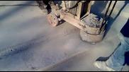 Шлайфане на бетон с български диамантен инструмент на магистрала Люлин