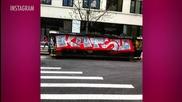 Kendall Jenner's Calvin Klein Billboard Vandalized in New York by KATSU