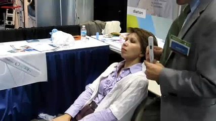 How to Tonometry Over Eyelid with Tonometer Diaton at Academy of Ophthalmology Aao 2010