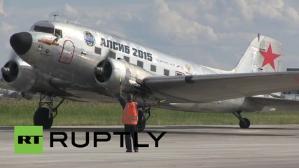 Russia: WWII planes fly in honour of US wartime assistance to Russia