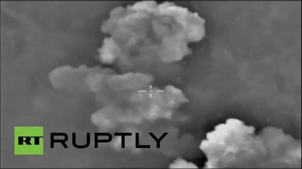 """Syria: Precision Russian airstrikes destroy Salma's arsenal of """"terror"""""""