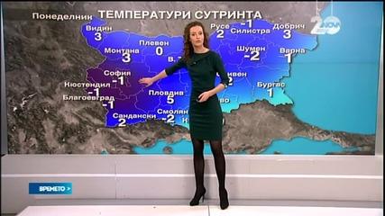 Прогноза за времето (12.01.2015 - сутрешна)