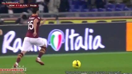 Красивият гол на Жервиньо класира Рома на полуфинал за Купата на Италия (рома - Ювентус 1-0)