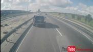 Шофьор на Bmw X5 умишлено бие спирачки и камион го блъска