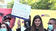Venezuela: Alex Saab's wife Camila addresses crowd of supporters in Caracas