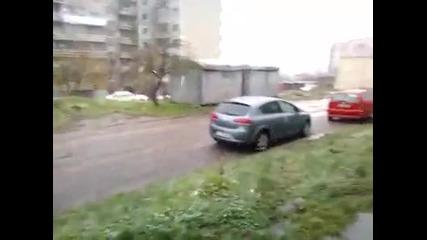 Сняг в Шумен 26.11.2013