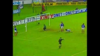 Франция - Израел 2 - 3 /1993/ шанс, който получава България за Сащ94
