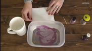 Експеримент как да оцеветим чашата си с лак за нокти и вода !