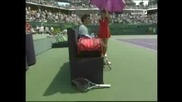 Atp 1000 Miami 2009 : Федерер чупи ракетата си