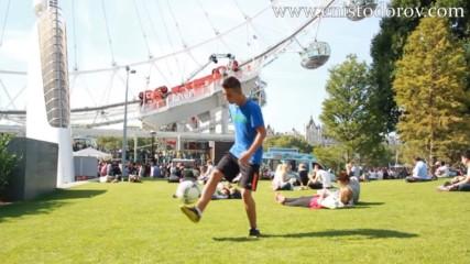 Freestyle football урок от Енис Тодоров ( Лондон, Приморско, София)