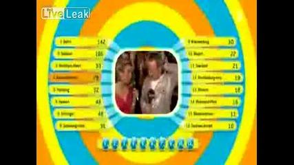Тв Водещ Хваща Колежка За Гърдата И Получава Шамар - Евровизия 2009