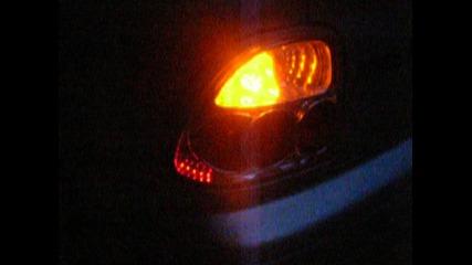 автомобилна крушка от 24 диода за мигач на задни стопове, на тъмно, вечер
