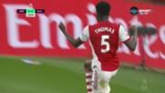 Партей даде аванс на Арсенал срещу Астън Вила