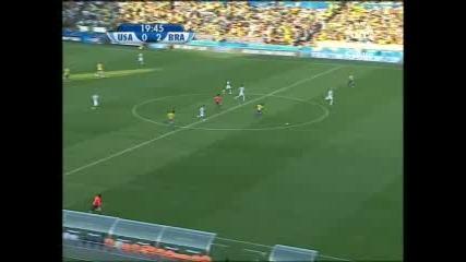 18.06 Бразилия - Сащ 3:0 Робиньо гол ! Купа на Конфедерациите