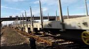 43 307 с товарен влак транзи през гара Пазарджик...