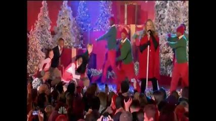 (hd) Mariah Carey Live Oh Santa! at Rockefeller Center - Nbc, 30, 2010