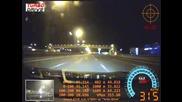Да спукаш гума с 327 км/ч - Nissan Gtr