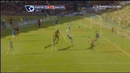 20.02 Бербатов гол !!! Евертън 3:1 Mанчестър Юнайтед