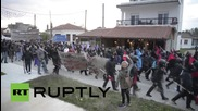 Greece: Protesters clash with police at demo against anti-refugee fence