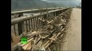 Останки от Японско градче след земетресението и цунамито