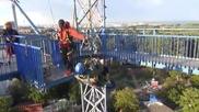 Най - щурото свободно падане от голяма височина в мрежа, дали бихте го преживели?