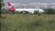Самолет излезе от пистата на Летище Варна, има пострадали