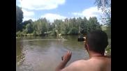 Забавно изобретение за придвижване във вода