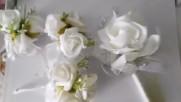 Красиви бутониери за кума и младоженеца- Svatbalux.com