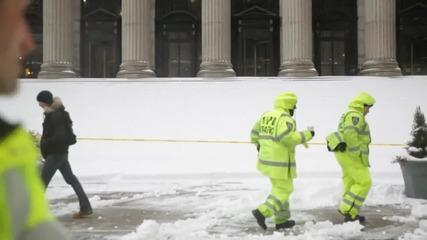 Каране на сноуборд по улиците на Ню Йорк