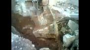 Разбиване на бетон с хидрочук