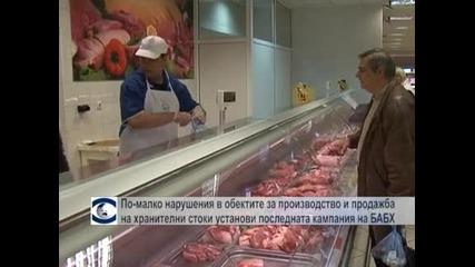 По-малко нарушения в обектите за производство и продажба на хранителни стоки