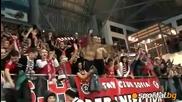 Ц С К А 3 - 0 Закса (полша) (22.02.2011) - Френетичната публика на Ц С К А !!!