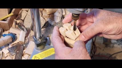 Изработка на фигурка от дърво - всички етапи