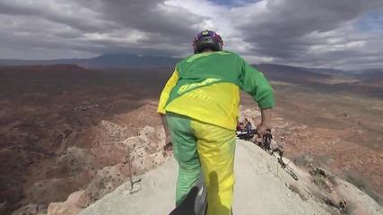 Най-голямото задно салто правено някога с планински бегач!!!