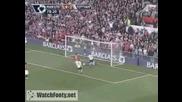 Гол на Бербатов Manchester United 5 - 2 Tottenham 25.04.2009
